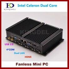 Бесплатная доставка 4 г Оперативная память 128 г SSD промышленного Мини-ПК тонкий клиент Celeron 1037U игр PC HDMI 1080 P Gigabit RJ45 LAN + COM + WI-FI