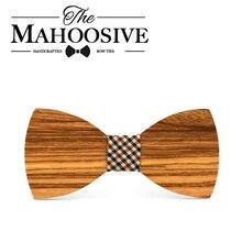 Mahoosive butterfly men Tie Bow 2017 Fun Personality Wooden