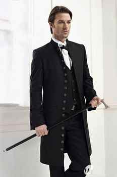 New Arrival Sixteen Buttons Groom Tuxedos Suits Black Groomsman/Best Man Suits Custom Made Suits A087 - DISCOUNT ITEM  0% OFF All Category