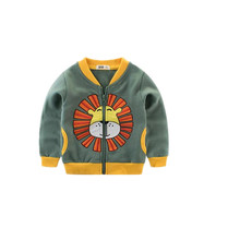 AJLONGER 2019 Spring Jacket Boys Kids Outerwear Cute Windbreaker Coats Fashion Print Canvas Baby Children Clothing