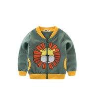 AJLONGER Spring Jacket Boys Kids Outerwear Cute Windbreaker Coats Fashion Print Canvas Baby Children Clothing цена 2017