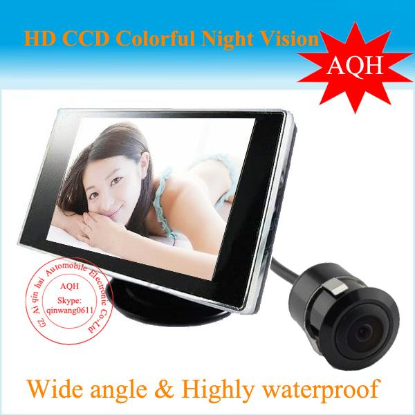 Promoción de la fábrica 2016 alta resolución 4.3 pulgadas cámara del revés del coche del monitor promoción del precio de fábrica + envío gratuito