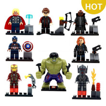 8pcs/lot The Avengers Heroes Hulk Thor Iron-man Assemble Minifigures Action Figure Toy Christmas Gifts