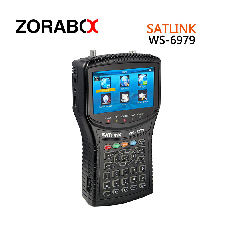 [Genuine]satellite finder satlink ws-6979 signal search meter 6979 4.3 Inch HD TFT LCD Screen dvb-s/s2 dvb-t/t2 finder satlink ws 6922 rechargeable 3 5 color screen hd satellite finder w av usb black