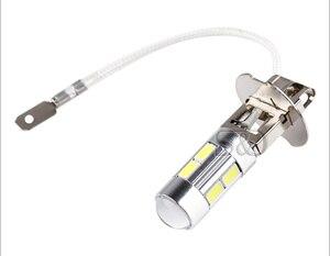 Image 2 - 2 pcs h3 led 전구 자동차 안개 조명 높은 전원 램프 5630 smd 낮 실행 자동 led 전구 자동차 빛 12 v 6000 k 화이트 옐로우 앰버