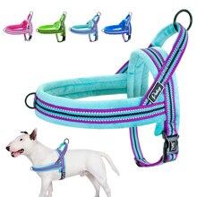 Поводок для собак, Светоотражающий Жилет без застежки, мягкий поводок для собак, регулируемый для маленьких, средних и больших собак XS, S, M, L
