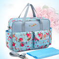 Baby Nappy Changing Bags Large Capacity Maternity Mummy Diaper Bag Floral Style Tote Messenger Bags sac a langer couche