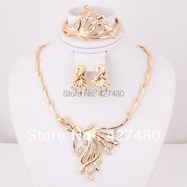 Free Shipping New Design Vintage African Jewelry Sets Gold Plated