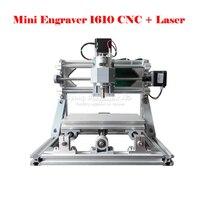 ERU FREE TAX Disassembled Pack Mini CNC 1610 500mw Laser CNC Milling Machine Pcb Wood Carving