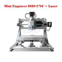 ERU GRATIS BELASTING Gedemonteerd pack mini CNC 1610 + 500 mw laser CNC freesmachine Pcb Houtsnijwerk machine diy mini cnc router