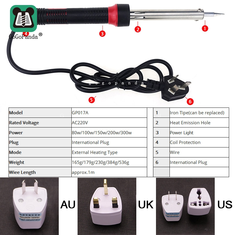 Electric-Solder-Iron High-Power 220V Heat-Handtools External with Indicator-Light 80-300W