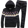 New Design Skull Hoodies Men Print   Suit 2015 Fashion Chandal Hombre M-4XL Autumn Winter Casual Cotton Skull Hoodies