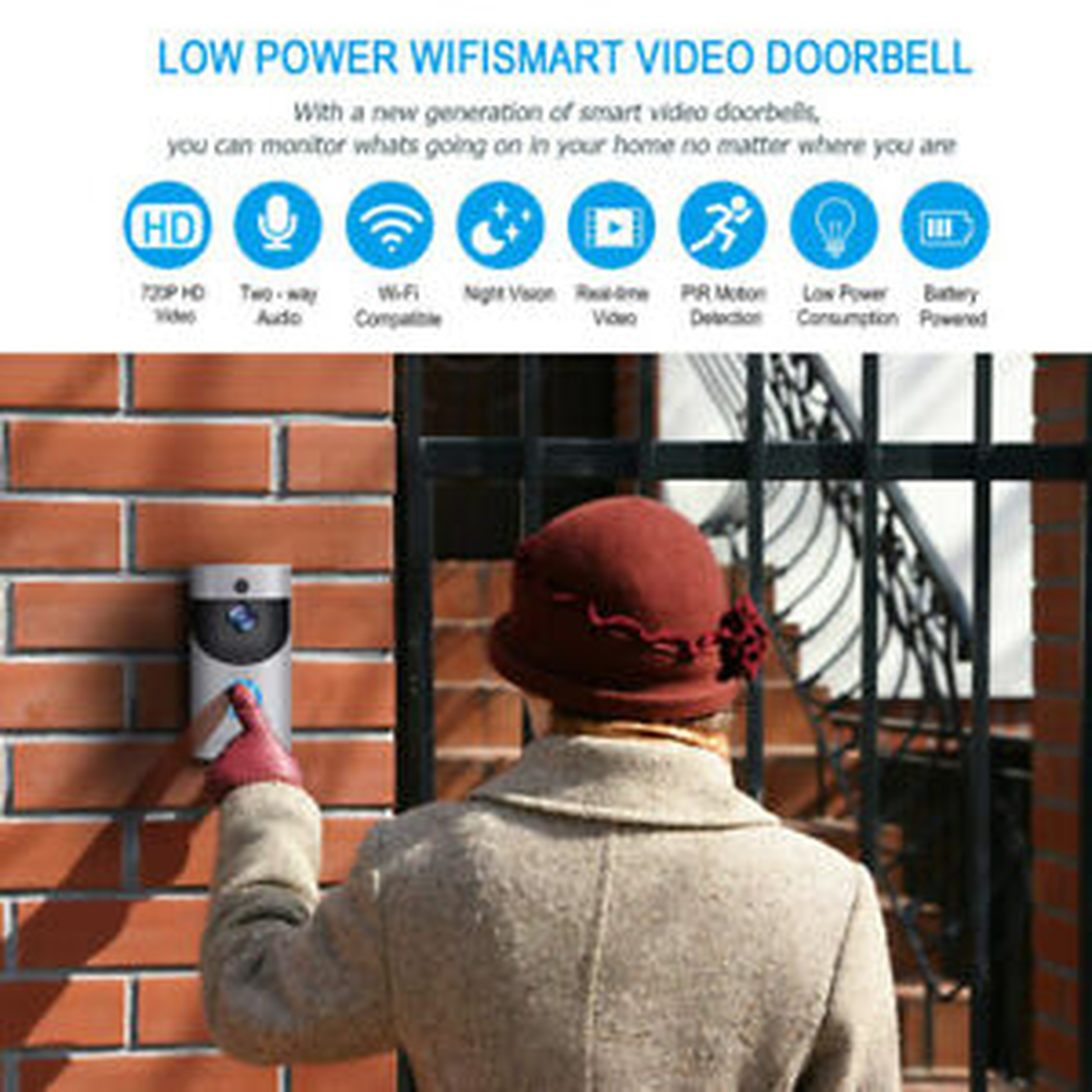 Wireless Smart WiFi DoorBell IR Video Visual Ring Camera Intercom Home Security in Mini Camcorders from Consumer Electronics