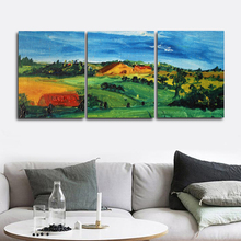 Laeacco Nordic Spring Landscape Posters and Prints Grassland Wall Art Paint On Canvas Painting Living Room Home Decor