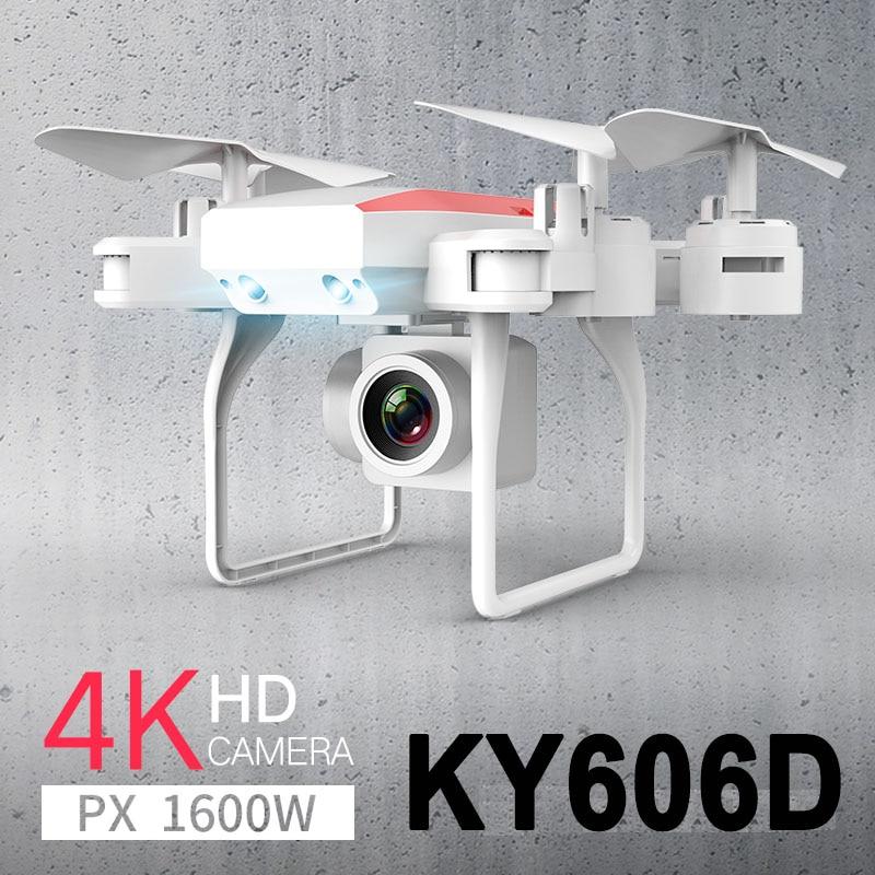 New professional KY606D RC Drone Quadcopter Dobrável longo tempo voar fpv Helicóptero Com 4K HD Wifi Camera VS ky601s zangão