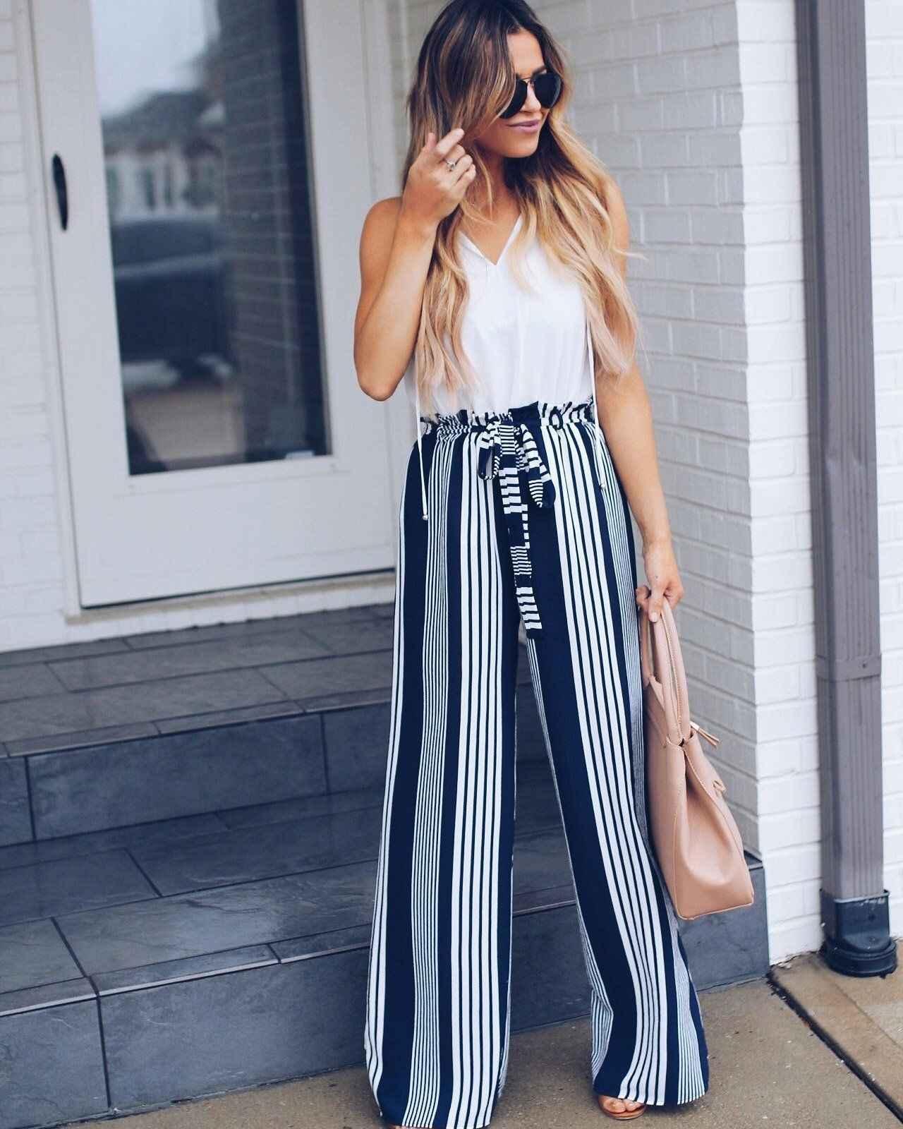 Yeni Yaz Kadın Yüksek Bekler Harem Uzun Pantolon Hippi Geniş Bacak Boho Pantolon
