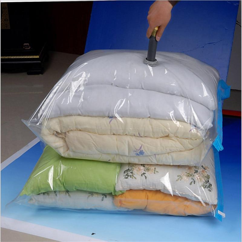 Vacuum Bag Storage Organizer Transparent Border Foldable Extra Large Seal Compressed Travel