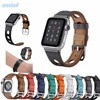 CRESTED New Genuine Leather Loop For Apple Watch Band 42mm 38mm Single Tour Leather Strap For