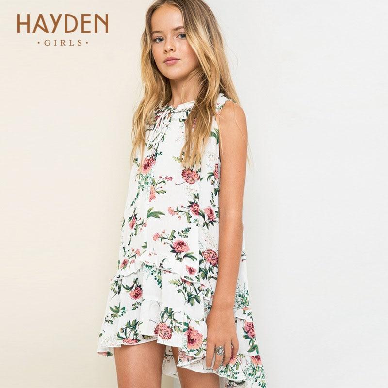 fc0d5c5654a6 € 22.24 |HAYDEN niñas flor vestido de fiesta verano sundress princesa  trajes adolescentes Ropa para Niñas 7 9 13 años ropa de moda en Vestidos de  ...