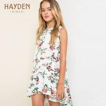9516cf0b8 HAYDEN niñas flor vestido de fiesta verano sundress princesa trajes adolescentes  Ropa para Niñas 7 9 13 años ropa de moda