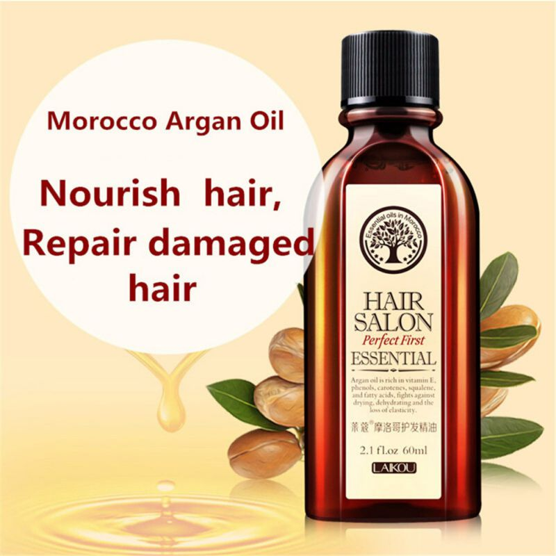 Conditioners: Multi-functional Hair Care Moroccan Pure Argan Oil Hair Essential Oil For Dry Hair Types Hair 60ml