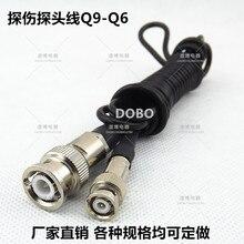 Специальный зонд линия Q9-Q6 ультразвукового дефектоскопа преобразователь соединительный кабель высоко частотный разъем маленький Q9