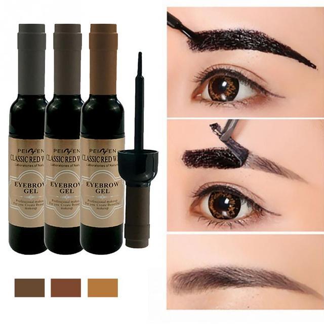 New Eyebrow Gel Paint Red Wine Tearing Shadow Lasting Natural Peel