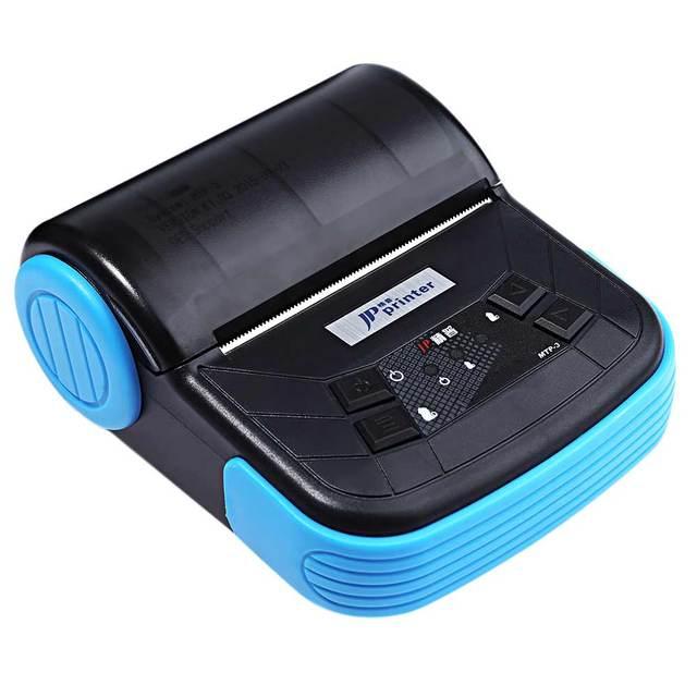 Портативный 80 мм Bluetooth 2.0 Тепловая Чековый Принтер Android Мобильный Принтер С Oled-дисплей Аккумуляторный ЕС/США plug
