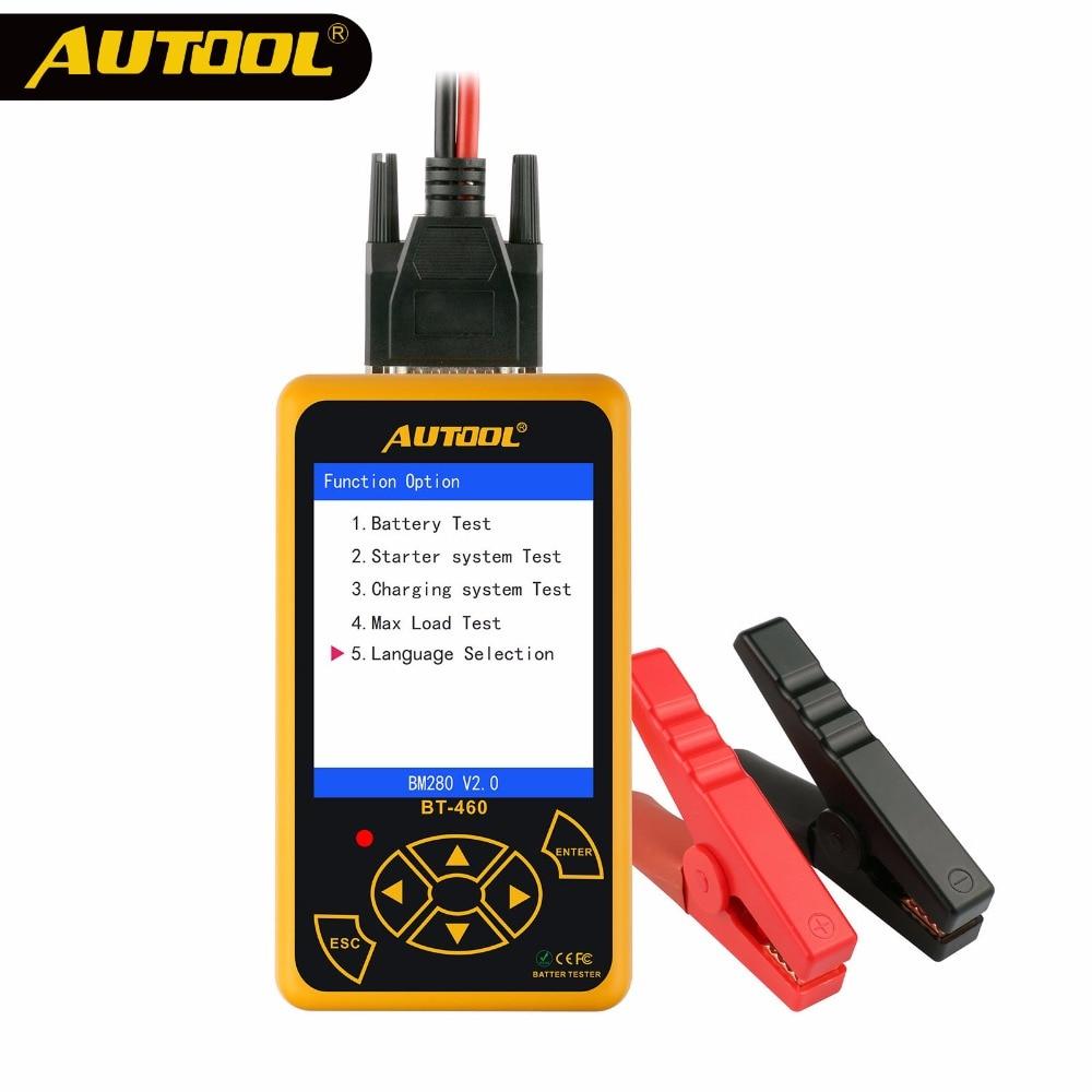 AUTOOL BT460 12 v 24 v Pesados Testador de Bateria de Carro Bateria Auto Analisador De Teste Multi-Línguas Celular Veículo teste de Ferramentas de Reparo