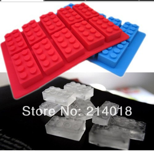 Building blocks mold fondant Cake decoration molds food grade material silicone chocolate mould candy No.:BG122