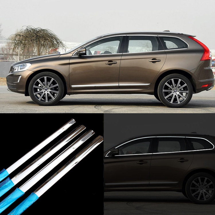 2015 Volvo Xc60 Review: 12pcs Stainless Steel Door Window Frame Sill Molding Trim