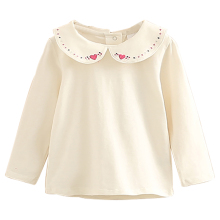 Baby Girls Peter Pan Collar Long Sleeve T-shirt Tops Child G