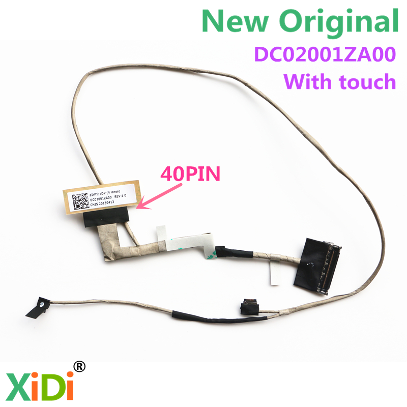 NEW LCD CABLE FOR LENOVO Y50 Y50-70 Y50-80 LCD LVDS CABLE DC02001ZA00 ZIVY2 EDP 40 PIN With touch genuine new and original cable for lenovo y50 y50 70 zivy2 lcd flex cable dc02001yq00 flat cable non touch 30 pin cable