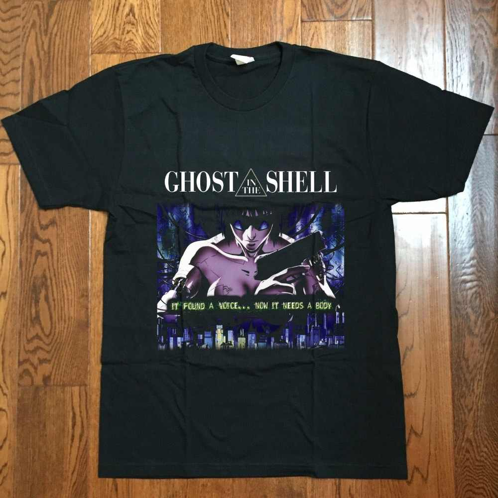 2019 Fashion 100 Cotton Men T Shirt Tees Custom Rare Ghost In The Shell Vintage Reprint 80s Manga Anime T Shirt Usa Cool Shirts T Shirts Aliexpress