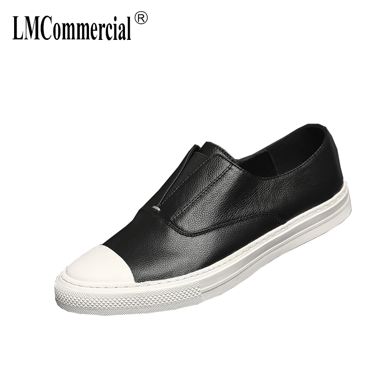 genuine leather loafer shoes men