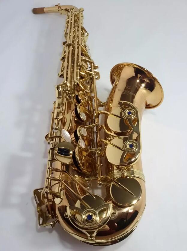 Japon Yanagisawa Laque D'or Sax Eb Alto Saxophone A-WO1 992 Professionnel En Laiton Instruments + embout + timbre