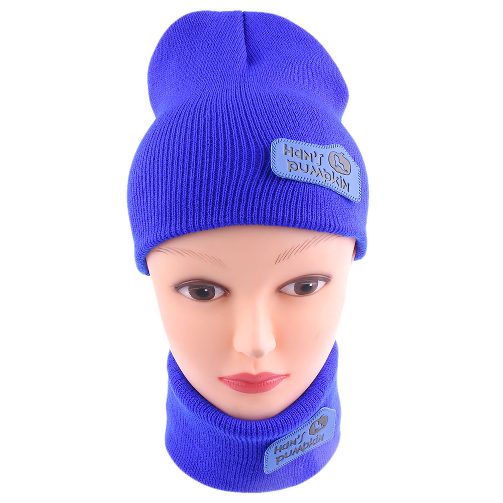 1Set New Fashion 3 Colors Unisex Cute Winter  Cap  Knitted Hat and Scarf Set Warm Sets