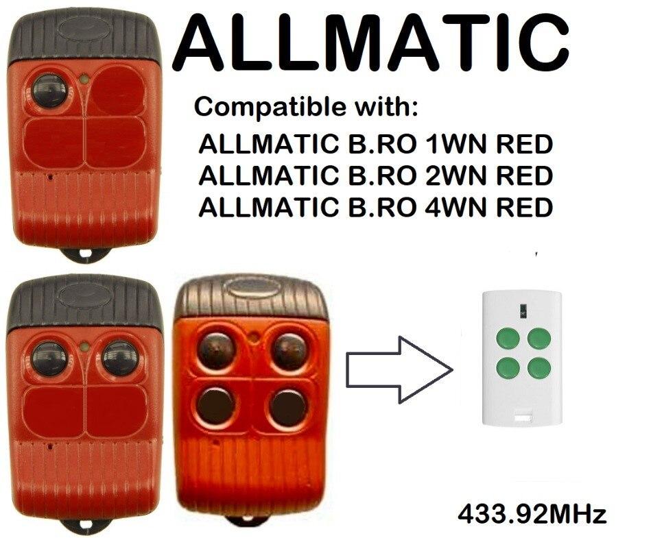ALLMATIC B. RO 1 WN ROSSO B. RO 2 WN ROSSO B. RO 4 WN ROSSO Compatibile telecomando Rolling codeALLMATIC B. RO 1 WN ROSSO B. RO 2 WN ROSSO B. RO 4 WN ROSSO Compatibile telecomando Rolling code
