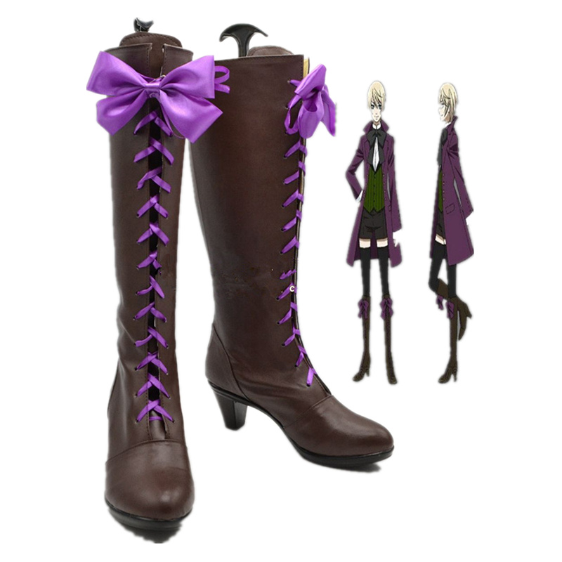 New Black Butler Aihara Alois Trancy Cosplay Boots Shoes Handmade