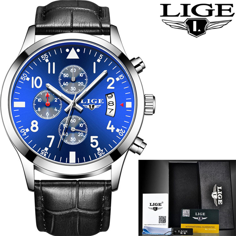 LIGE Reloj Hombre Men Watches Brand Luxury Men Military Sport Wristwatch Quartz Watch Multi-function Clock Man relogio masculino luxury watch men automatic mechanical watches qlls brand skeleton male clock military sport wristwatch reloj hombre