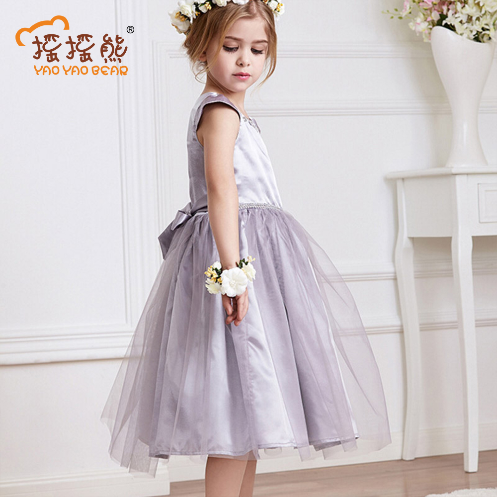 Fashion Style Girls Clothes Lace Dress Solid Short-sleeve Girls Summer Dress Children Clothing Mesh Princess Dress acthink 2017 new girls formal solid lace dress shirt brand princess style long sleeve t shirts for girls children clothing mc029