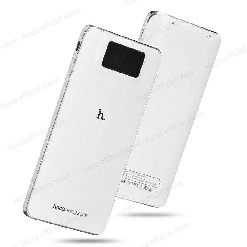 HOCO pantalla LCD cargador Externo 10000 mAh Banco de la Energía con la luz del
