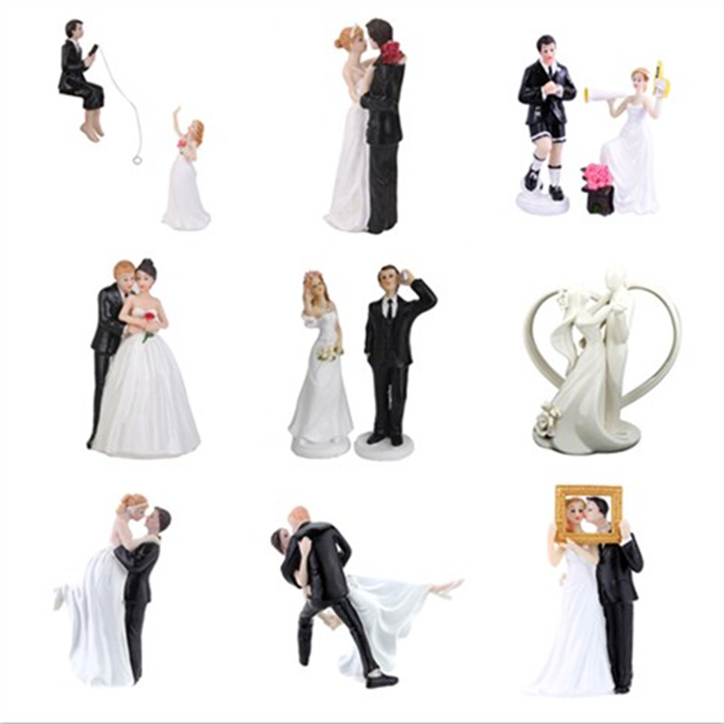 cheap funny wedding cake toppers and groom toppers figurine wedding 12515