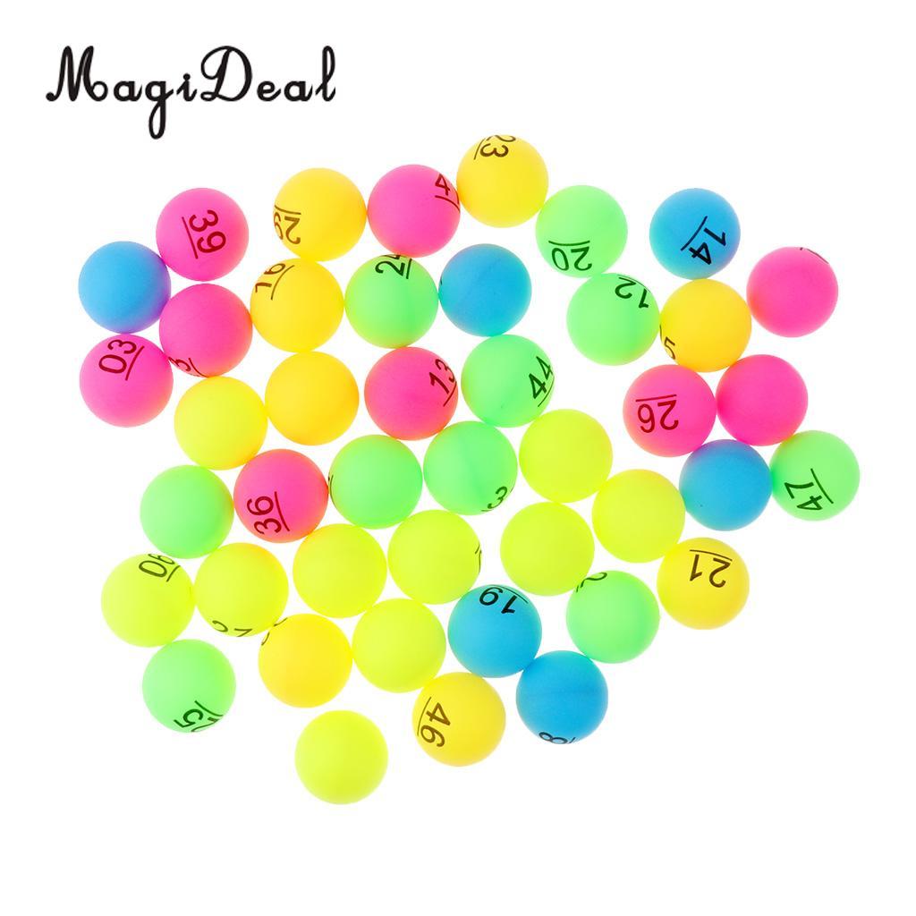 MagiDeal 50 шт. Ассорти Цвет pp Материал Мячи для настольного тенниса с номер, напечатанный (от 1 до 200)