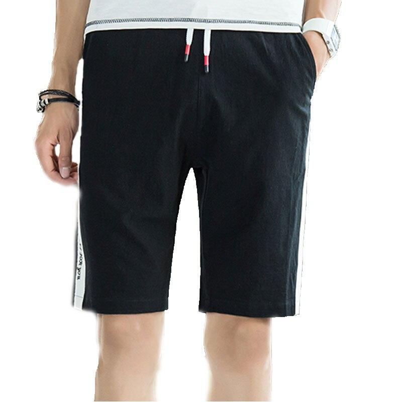 Fashion Mens Shorts Elastic Waist Stitching Mens Shorts Knee Length Comfort Black Orange Gray Khaki Blue M-4XL Mens Shorts