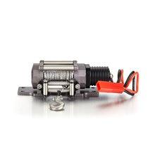W pełni metalowa wciągarka emulacyjna z pojedynczy silnik dla RC ciężarówka typu crawler