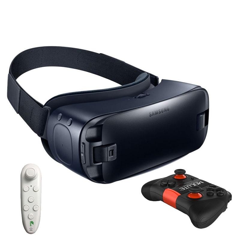 Engrenagem de Realidade Virtual VR 4.0 Óculos 3D Sensor de Giroscópio Embutido Fone de Ouvido para Samsung Galaxy S9 S9Plus S8 S8 + S6 borda Borda + S7 S7 S6