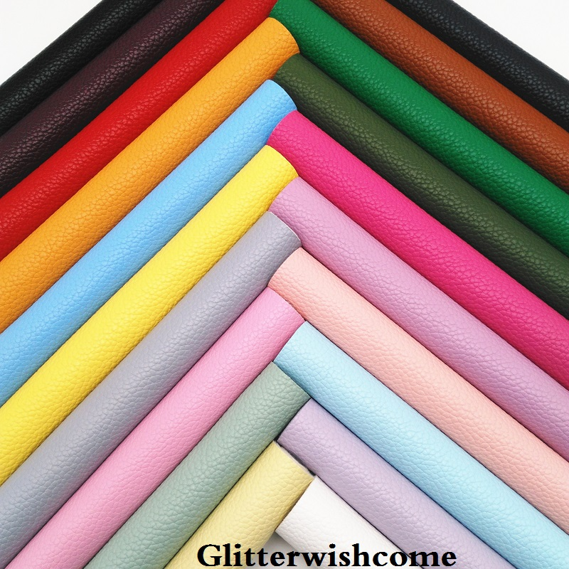 Glitterwishcome 21X29CM A4 Size Synthetic Leather Sheets, Litchi Faux Leather Sheets, Vinil Para Lazos For Bows, GM079A