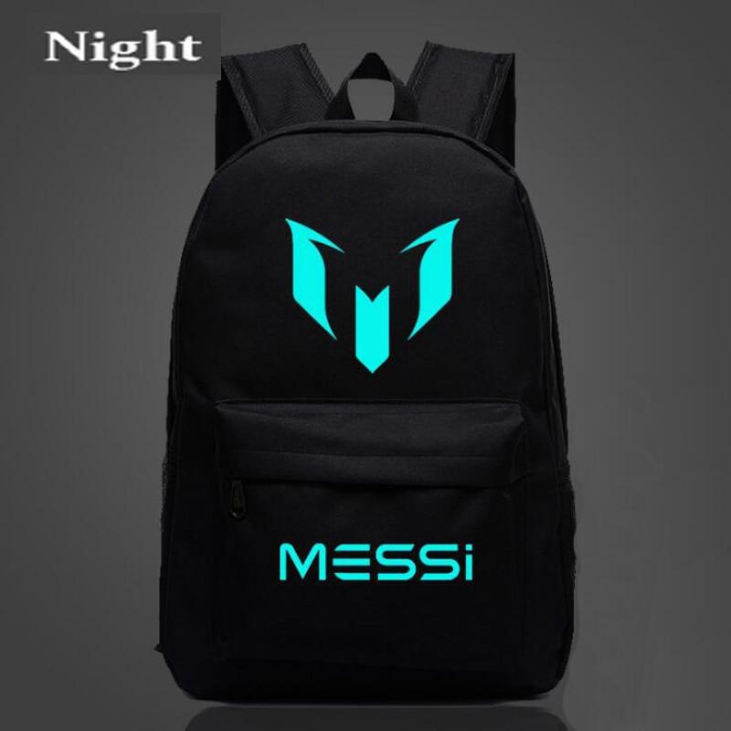 f40810a20 Bookbags Logo Messi Backpack Bag Men Boys Barcelona Travel Bag Teenagers  School Gift Kids Bagpack Mochila