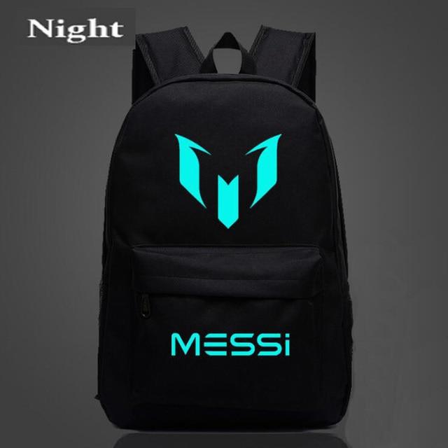 25fb2d50c7ce0 شعار ميسي على ظهره حقيبة الرجال بنين برشلونة حقيبة سفر المراهقين هدية  المدرسة الاطفال Bagpack Mochila